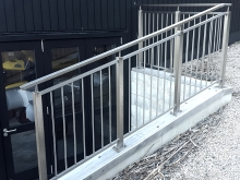 Galvanised steel balustrade and handrail guard