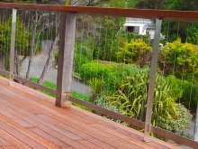 Stainless steel wire balustrade fence