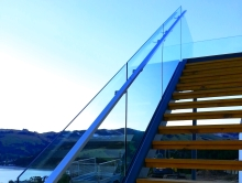 Christchurch fabricated stainless steel stair handrail for glass balustrade Metalcraft Engineering