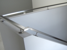 Internal stainless steel handrail stair case and landing