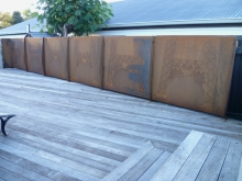 Metalcraft Engineering weathered steel balustrade and fence architectural feature