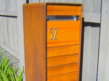 Custom made letter box weathered steel Christchurch Metalcraft Engineering