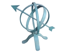 Armillary sphere feature table top ornament Christchurch
