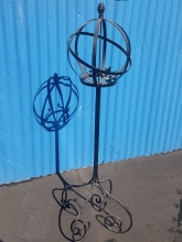 Custom metalwork orb garden feature traditional decor iron art Christchurch