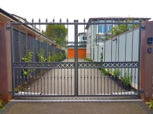 Entrance gate Christchurch metalwork traditional