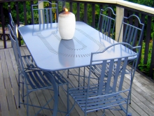 Metalcraft Engineering outdoor furniture classic style metal table and chairs Christchurch