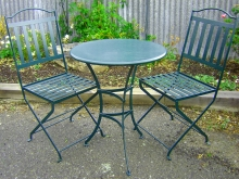 Metalcraft engineering patio coffee table and chairs Christchurch