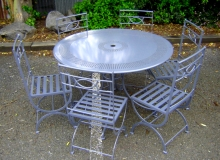 Garden furniture patio table and chairs durable metalwork Christchurch