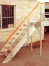 Egress stairs aluminium walkway way roof access commercial building