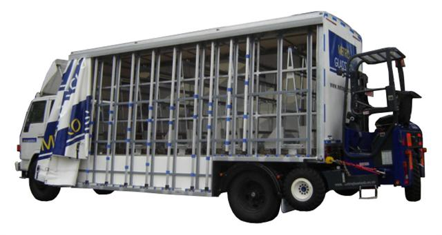 Glass Trolley Truck