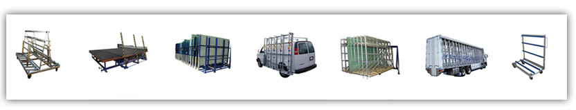 Glass Trolley - Glass Cutting Table - Flat Glass Storage - Glass Van rack - Glass swing Rack - Glass Truck - Double Glaze Trolley-